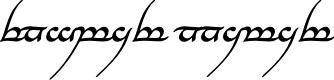 Preview image for Tengwar Annatar Bold Italic