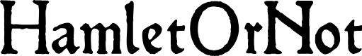Preview image for HamletOrNot Font