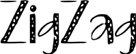 Preview image for ZigZag Font