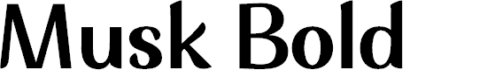 Preview image for Musk Bold Font