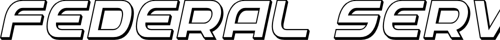 Preview image for Federal Service 3D Italic