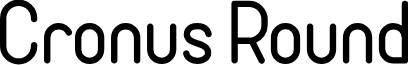 Cronus Round font