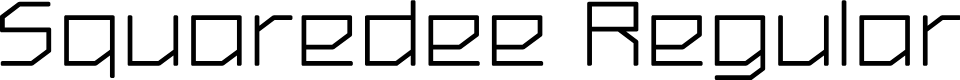 Preview image for Squaredee Regular Font