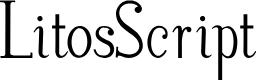 Preview image for LitosScript Font