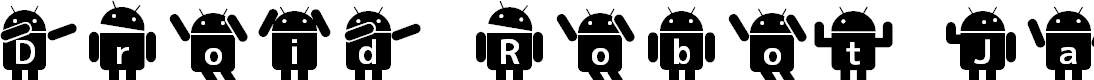 Preview image for Droid Robot JapaneseRegular Font