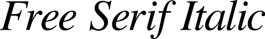 Preview image for Free Serif Italic