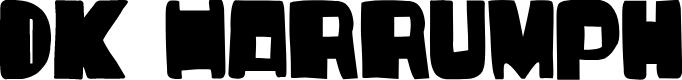 Preview image for DKHarrumph Font