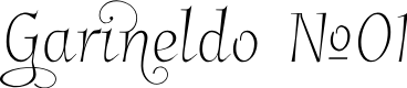 Preview image for GarineldoNo01 Font