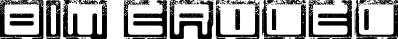 Preview image for Bim eroded Font