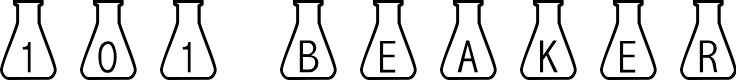 Preview image for 101! Beaker Font