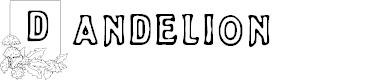 Preview image for Dandelion Font