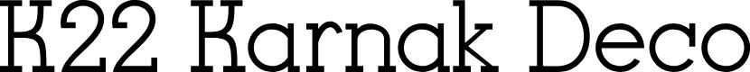 Preview image for K22 Karnak Deco Font
