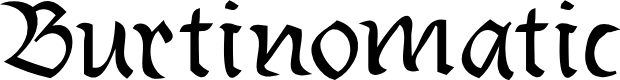 Preview image for Burtinomatic Font
