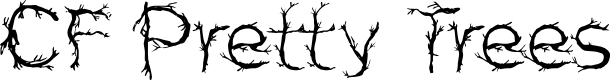 Preview image for CF Pretty Trees Regular Font