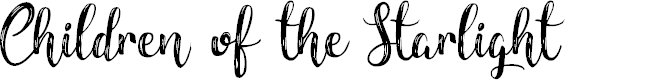 Preview image for Children of theStarlight Font