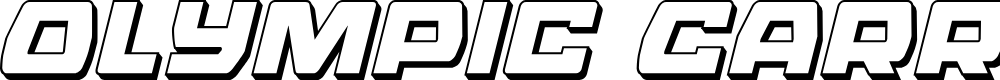 Preview image for Olympic Carrier 3D Italic