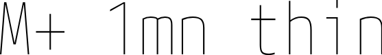 Preview image for M+ 1mn thin