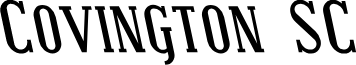 Covington SC Rev Bold Italic