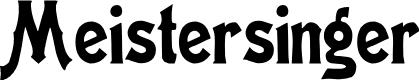 Preview image for Meistersinger Font
