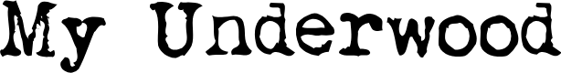 Preview image for My Underwood Font