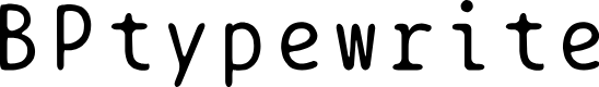 Preview image for BPtypewrite Font
