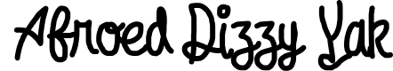 Preview image for Afroed Dizzy Yak Font