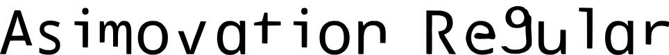 Preview image for Asimovation Regular Font