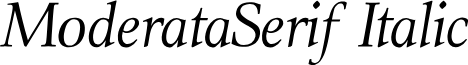 ModerataSerif Italic