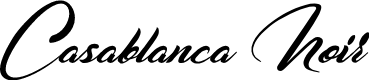 Preview image for Casablanca Noir Personal Use Regular Font