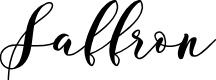 Preview image for Saffron Font