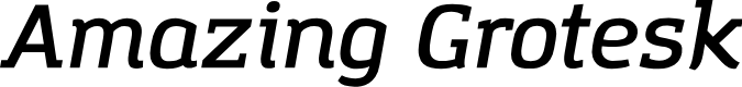 Preview image for Amazing Grotesk DemiBold Italic