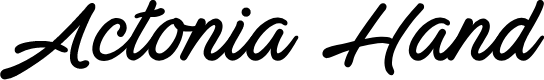 Preview image for Actonia Hand PERSONAL USE Font