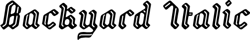 Preview image for Backyard PERSONAL Italic