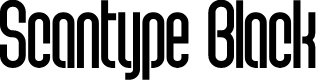 Preview image for Scantype Black PERSONAL USE Font