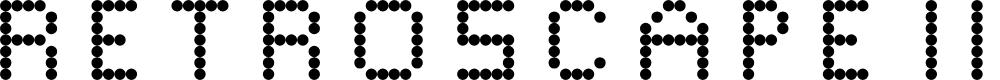 Preview image for Retroscape II Regular Font