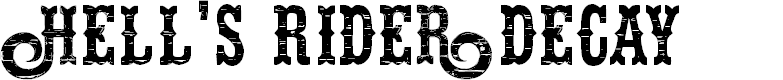 Preview image for Hells Rider Decay Font