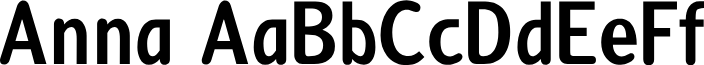 Anna font
