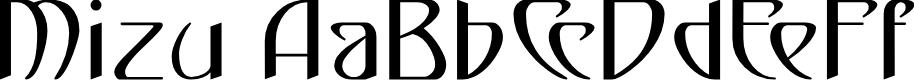 Preview image for Mizu Regular E. Font