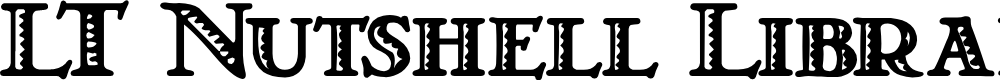 Preview image for LT Nutshell Library Font