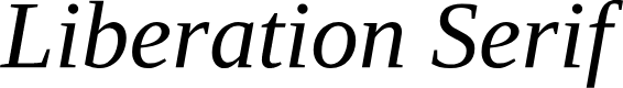 Preview image for Liberation Serif Italic