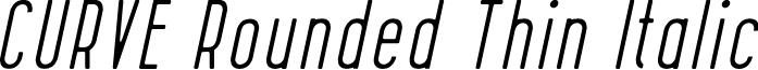 CURVE Rounded Thin Italic