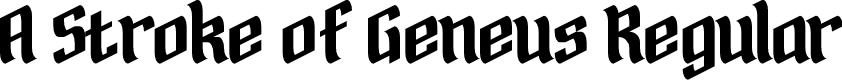 Preview image for A Stroke of Geneus1 Regular Font