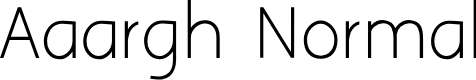 Preview image for Aaargh Normal Font