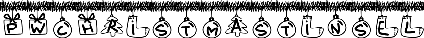 Preview image for PWChristmasTinsel Font