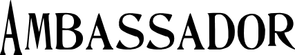 Preview image for Ambassador Font
