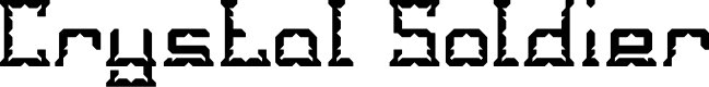 Preview image for Crystal Soldier Font