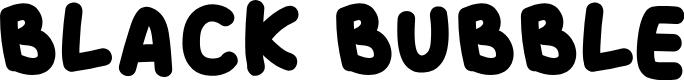 Preview image for BLACK BUBBLE Font