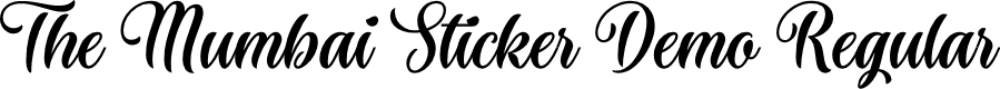Preview image for The Mumbai Sticker Demo Regular Font