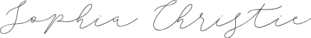 Preview image for Sophia Christie Font