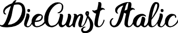 DieCunst Italic font